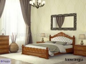 кровать александра мягкая спинка