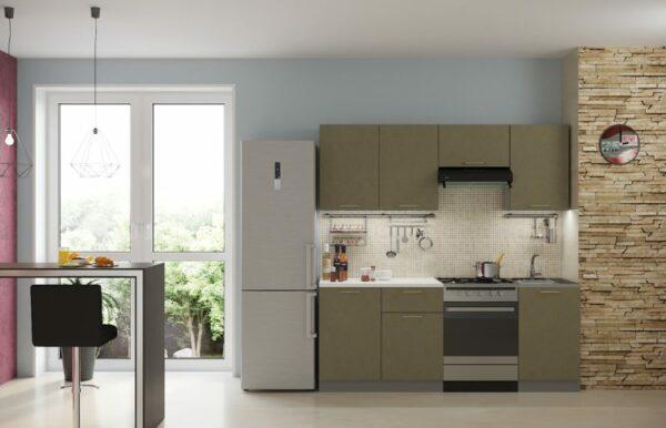 кухня олива бетон 2,1 м
