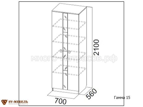 шкаф гамма 15 схема