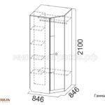 шкаф угловой гамма 15 схема