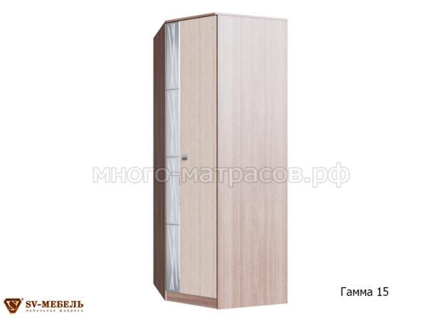 шкаф угловой гамма 15 ясень шимо